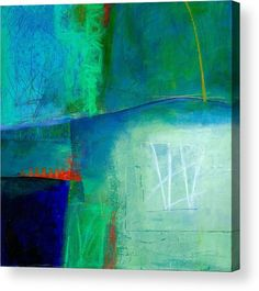 Blue Acrylic Print featuring the painting Blue #1 by Jane Davies