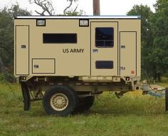 My next build is a Stewart & Stevenson trailer with a Ambulance body modified to a full RV inside. RV box will be capable of being moved to the as a Expedition vehicle without the addition weight of the trailer. Trailer Tent, Off Road Trailer, Small Trailer, Bug Out Trailer, Trailer Plans, Overland Truck, Overland Trailer, Expedition Trailer, Expedition Vehicle