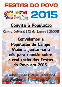 Campomaiornews: Festas do Povo de Campo Maior população convidada ...