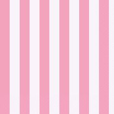 Lovely Pink Stripes Lunch Napkins 16ct