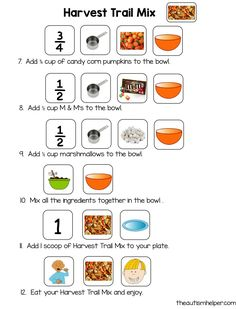 My class LOVES cooking and The Speech Helper and I just finished a great new resources for some Fall Cooking Fun! This packet – Fall Recipe Units – contains 3 adapted recipe units for some fun Fall Themed cooking! Cooking is a fun and motivating activity that is great for language development, sequencing, fine motor skills, …