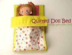 Operation Christmas Child Ideas - Dolls Bed idea