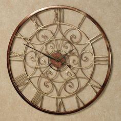 Ralston Round Metal Wall Clock  touchofclass 119