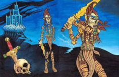 1st Edition Fiend Folio Artwork by Kevin Mayle