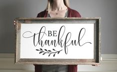Fall decor Signs - Be Thankful Sign Fall Signs Wood In All Things Give Thanks Fall Signs Thanksgiving Sign Wood Scripture Signs Fall Wall Decor. Diy Wood Signs, Painted Wood Signs, Vinyl Signs, Sign Fonts, Thanksgiving Signs, Homemade Signs, Scripture Signs, Original Design, Farmhouse Signs