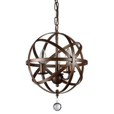 As versatile as it is compelling, this pendant is at home hung in the entryway, suspended in a cluster over the kitchen island, or anchored above a dining set.