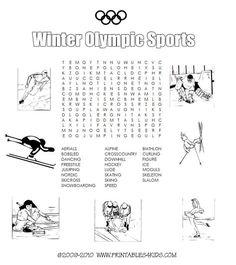 Summer olympics sports coloring pages awesome winter olympic sports printable word search printables for kids Olympic Idea, Olympic Sports, Olympic Games, Olympic Crafts, Sports Coloring Pages, Coloring For Kids, Colouring, Buffalo Bills, Printable Worksheets