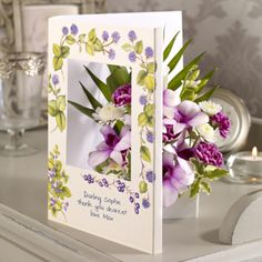 Hedgerow Plunder - Fresh flowers in a personalised card. #floralgifts #flowergifts #flowers