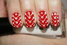 V-Day Dots nail art by Polish You Pretty! Click the photo for the full tutorial.