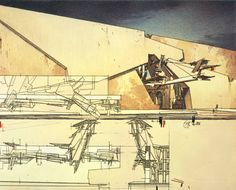 Lebbeus Woods was an American architect and visionary dedicated to specific theoretical approach aimed to explore impossibilities and limitations of architectural practice. Steven Holl Architecture, Architecture Drawings, School Architecture, Conceptual Architecture, Lebbeus Woods, Deconstructivism, Model Sketch, San Francisco Museums, Whitney Museum
