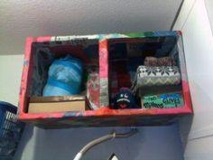 paper mache/cardboard box shelvesTani Hughes