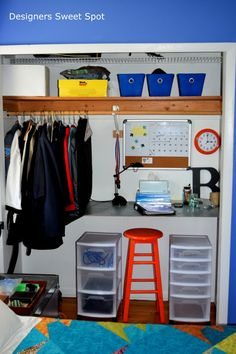Loving this closet turned home office!