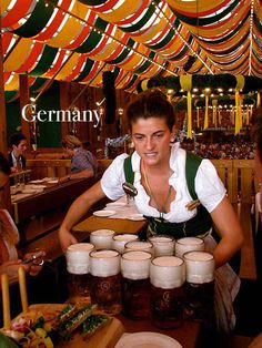 Beer girl at oktoberfest,Germany http://www.oktoberfesthaus.com