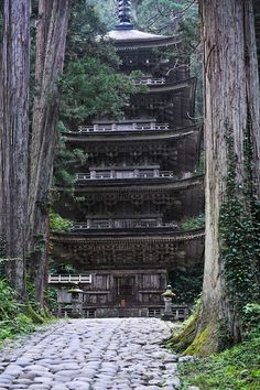The five story pagoda, Mount Haguro, Yamagata, Japan