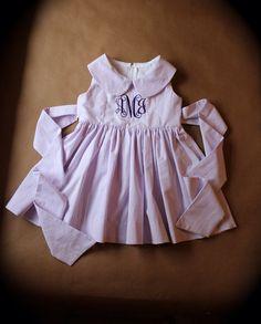 Seersucker dress. by CottonfieldLane on Etsy, $30.00