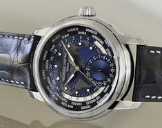 """Frédérique Constant Worldtimer Watch: Feeling Blue - by Patrick Kansa - see the lovely blue hands-on pictures and read more """"Over the last few years, I have been fortunate to be able to experience a wide variety of watches, particularly those that feature some sort of second timezone indication. While these most commonly take the form of a second hand (with or without a moving bezel) to indicate the second time, less common, but somewhat more visually intriguing, are those watches that rely…"""