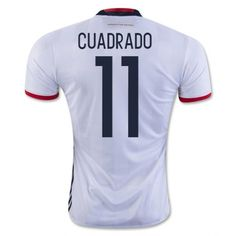 6fbb58200 2016 Colombia Soccer Team Cuadrado  11 Home Replica Shirt Cheap Football  Shirts