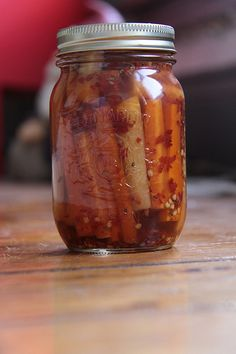 Spicy Pickled Carrots Recipe by Well Preserved, via Flickr