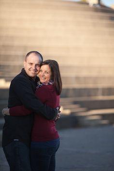 Engaged couple at Sawyer Point. #Cincinnati #wedding #weddingstyle