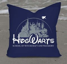 Parodia di Harry Potter Hogwarts Castle cuscino coprire quadrati