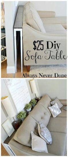 Great storage idea in any long narrow room