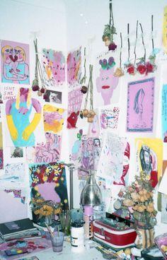Studio visit with artist: Rachel Louise Hodgson Printed Portfolio, Collage Illustration, Dream Art, Studio Ideas, Bedroom Inspo, Bedroom Ideas, Art Inspo, Art Dolls, Digital Prints
