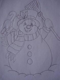 Cantinho da tia Paty: BONECOS DE NEVE Painting Templates, Painting Patterns, Fabric Painting, Christmas Rock, Christmas Colors, Christmas Crafts, Christmas Embroidery Patterns, Applique Patterns, Christmas Drawing
