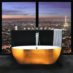 Yellow Gold Bathtub. Fancy Home Oct 27, 2014 Yellow Gold Bathtub. Yellow Gold Bathtub designs Yellow Gold Bathtub.The Aquamar Split Finish Tub features a matte white interior made from Cristalplant and an exterior expertly layered with the finest gold leaf. Read more at http://loldamn.com/yellow-gold-bathtub-designs.html#wT7eRTGWQDqZjHec.99