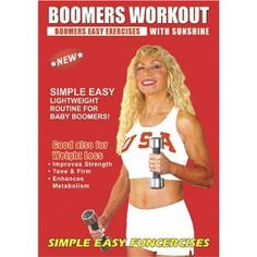 (Boomers Exercise DVD, Easy Light Weights Workout. Boomers Exercise DVD good also for over 50, Boomers Fitness, Active Seniors Light Weights / Dumbbells Exercise DVD for Strength, Balance, and Weight Loss. (2011)) Boomers workout As a boomer I wanted to do some easy simple exercise routine with 5 Lb dumbbells to stay in shape and maintain my weight. This is it.... [Click for more info]
