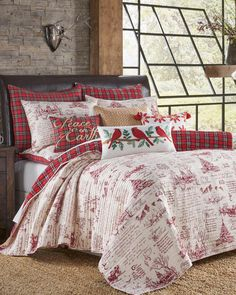 Levtex Home Joyeux Noel Luxury Quilt Large Furniture, Furniture For You, Quality Furniture, Cool Furniture, Wrapping Ideas, Pottery Barn, Christmas Bedroom, Christmas Interiors, Rustic Home Interiors