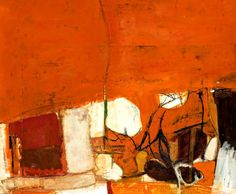 """"""" Brett Whiteley (Australian, Untitled Red Painting, Oil, gouache and collage of canvas on board, 32 x 39 cm. Abstract Artists, Red Painting, Australian Art, Abstract Painting, Painting, Oil Painting Abstract, Abstract Art, Australian Painting, Abstract"""