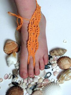 free shipping Crochet Barefoot Sandals Nude by crochetbarefoot