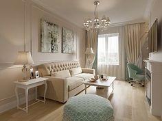 Интерьер двухкомнатной квартиры в ЖК «Классика», 75 кв.м.