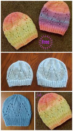 Knit Eyelet Baby Hat Free Knitting Patterns Knit Eyelet Baby Hat Free Knitting Patterns (Size Preemie - Knitting , lace processing is just about the most beautif. Baby Cardigan Knitting Pattern Free, Baby Hats Knitting, Knitting Blogs, Baby Knitting Patterns, Baby Patterns, Free Knitting, Knitting Projects, Knitting Basics, Knitting Ideas