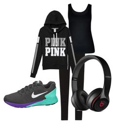 """""""Pink"""" by sneely50 on Polyvore featuring Victoria's Secret, City Chic, NIKE and Beats by Dr. Dre"""