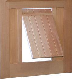 Pet Door | P3 Pet Door Model | www.VintageDoors.com Diy Doggie Door, Pet Door, Barrel Stove, Woodworking Items That Sell, Dog Yard, Dutch Door, Cat Furniture, Dogs Of The World, Diy Stuffed Animals
