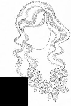 vrouw Bobbin Lace Patterns, Embroidery Patterns, Irish Crochet, Crochet Lace, Bobbin Lacemaking, Crochet Needles, Point Lace, Tatting Lace, Needle Lace