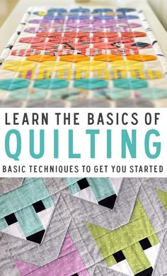 Learn the basics of quilting and unleash your creativity. Here are some basic quilting techniques to get you started.
