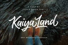 Ad: pretty brush font KaiyaLand Brush by Typia Nesia on Brush Script, Brush Lettering, Hipster Design, Neon Design, Cursive Fonts, Cursive Calligraphy, Handwritten Fonts, Fancy Fonts, Visual Identity