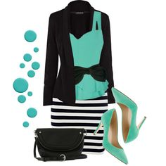Black & White, and Teal