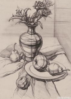 Pencil Sketches Landscape, Art Sketches, Drawing Studies, Art Studies, Art Tutorials, Drawing Tutorials, Pencil Shading, Object Drawing, Still Life Drawing
