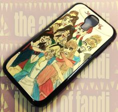 Disney Princess Funny Faces Painting For Samsung S4 Black Rubber Case