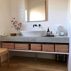 Bathroom Vanity, Rustic Woodworking Projects, Vanity, Wood Building, House, Powder Room Design, Home Decor, Room Design, Bathroom