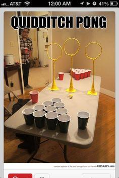 Quidditch pong...fricken genius!