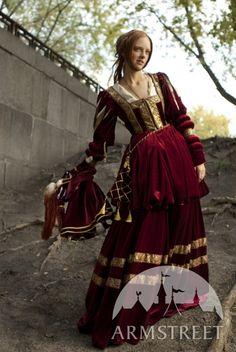 Medieval Renaissance Nobility Velvet Dress