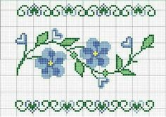 This Pin was discovered by TC Cross Stitch Heart, Cross Stitch Borders, Cross Stitch Flowers, Cross Stitch Designs, Cross Stitching, Cross Stitch Embroidery, Hand Embroidery, Cross Stitch Patterns, Christmas Embroidery Patterns