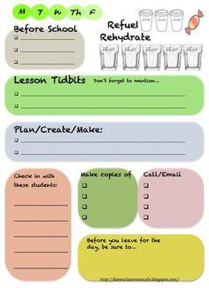 organized teacher desk idea