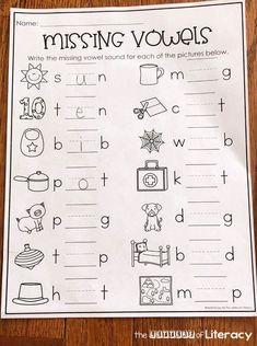 Kite CVC Word Sort - FREE Spring Printable for Kindergarten!