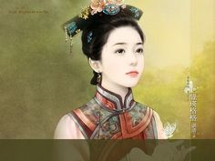 Elegant Woman of Qing Dynasty -  Ancient Chinese Women Wallpaper  47