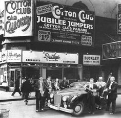 The Cotton Club in Harlem, new York — James Van Der Zee, was there in the early 60's.  great venue.